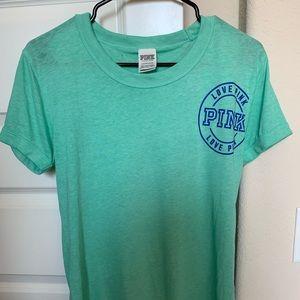 PINK Victoria's Secret Teal T-Shirt